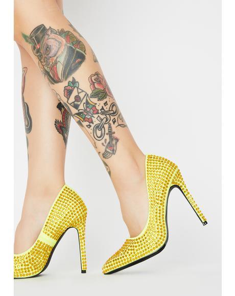 Sour Supreme Bling Queen Heels
