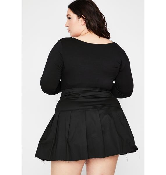 Current Mood Your Lonely Antics Pleated Skirt
