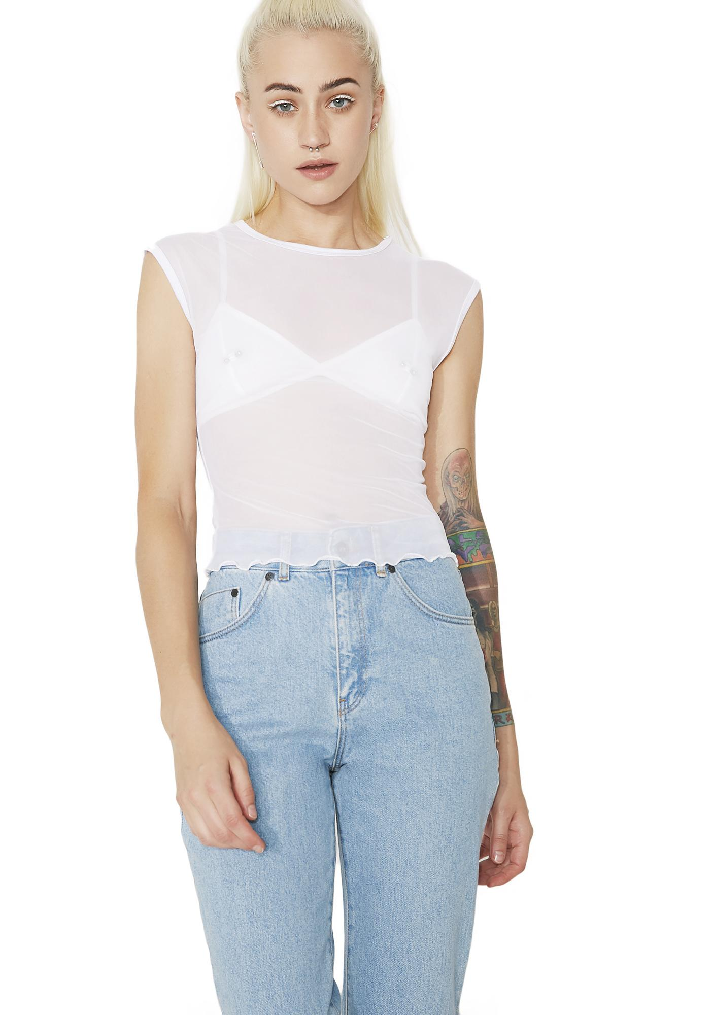 Angelic Sheer Daze Tee