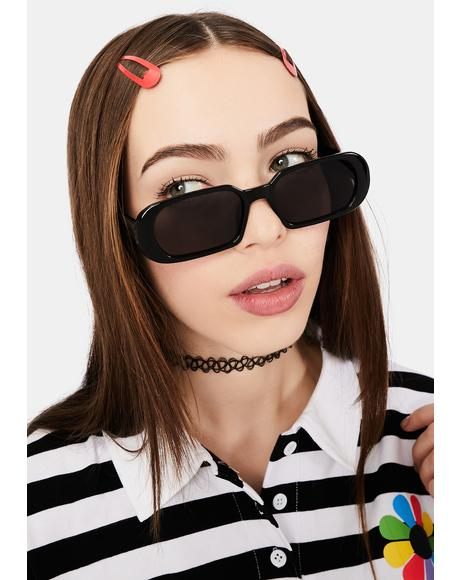 Midnight Edge Of Seventeen Rectangle Sunglasses