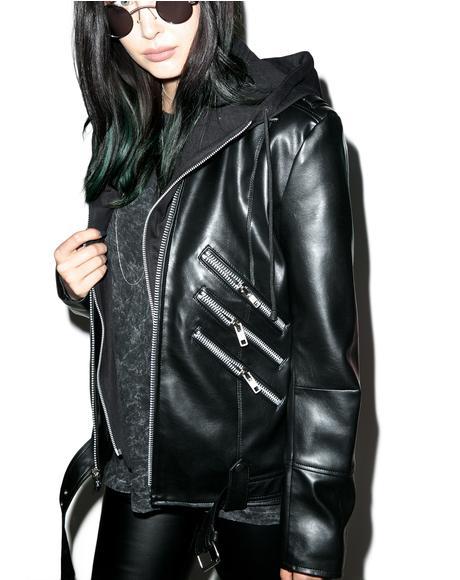 Moody Vegan Leather Jacket