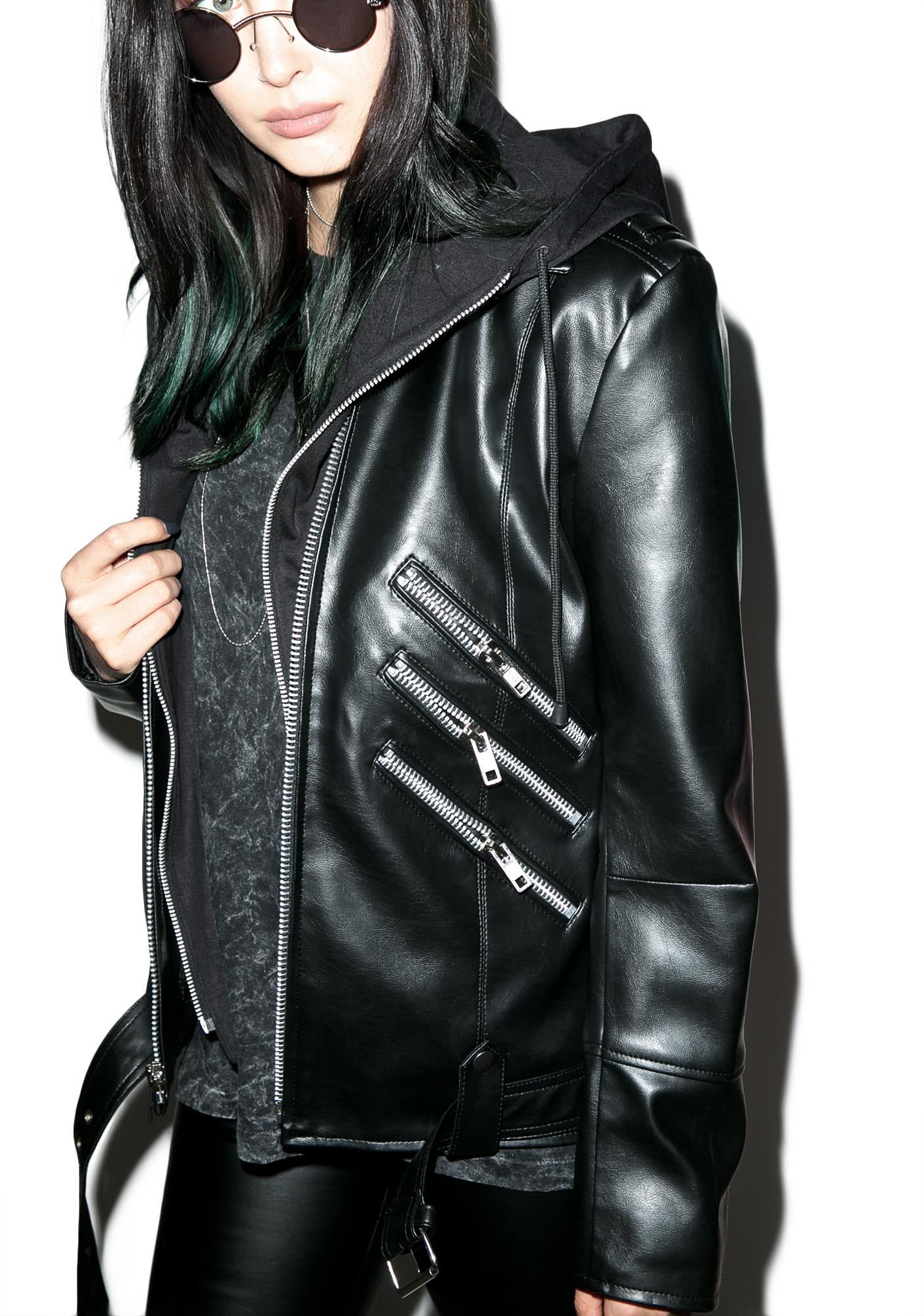 Killstar Moody Vegan Leather Jacket