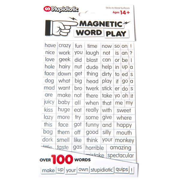 Stupidiotic Magnetic Word Play