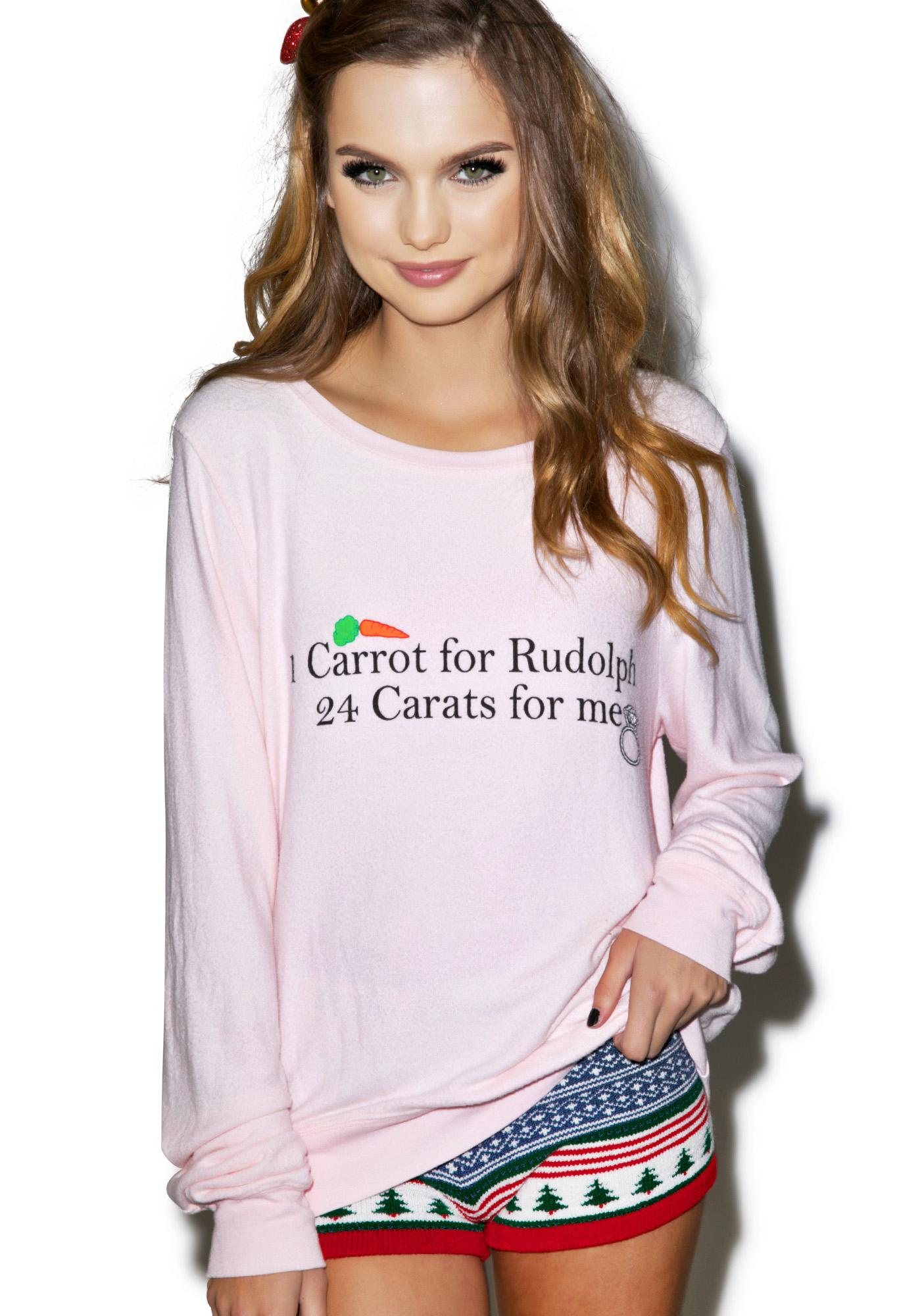 Wildfox Couture 24 Carats Baggy Beach Jumper
