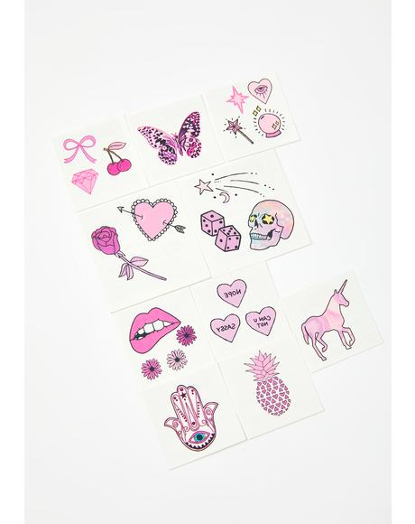 Pretty In Pink Tattoo Pack