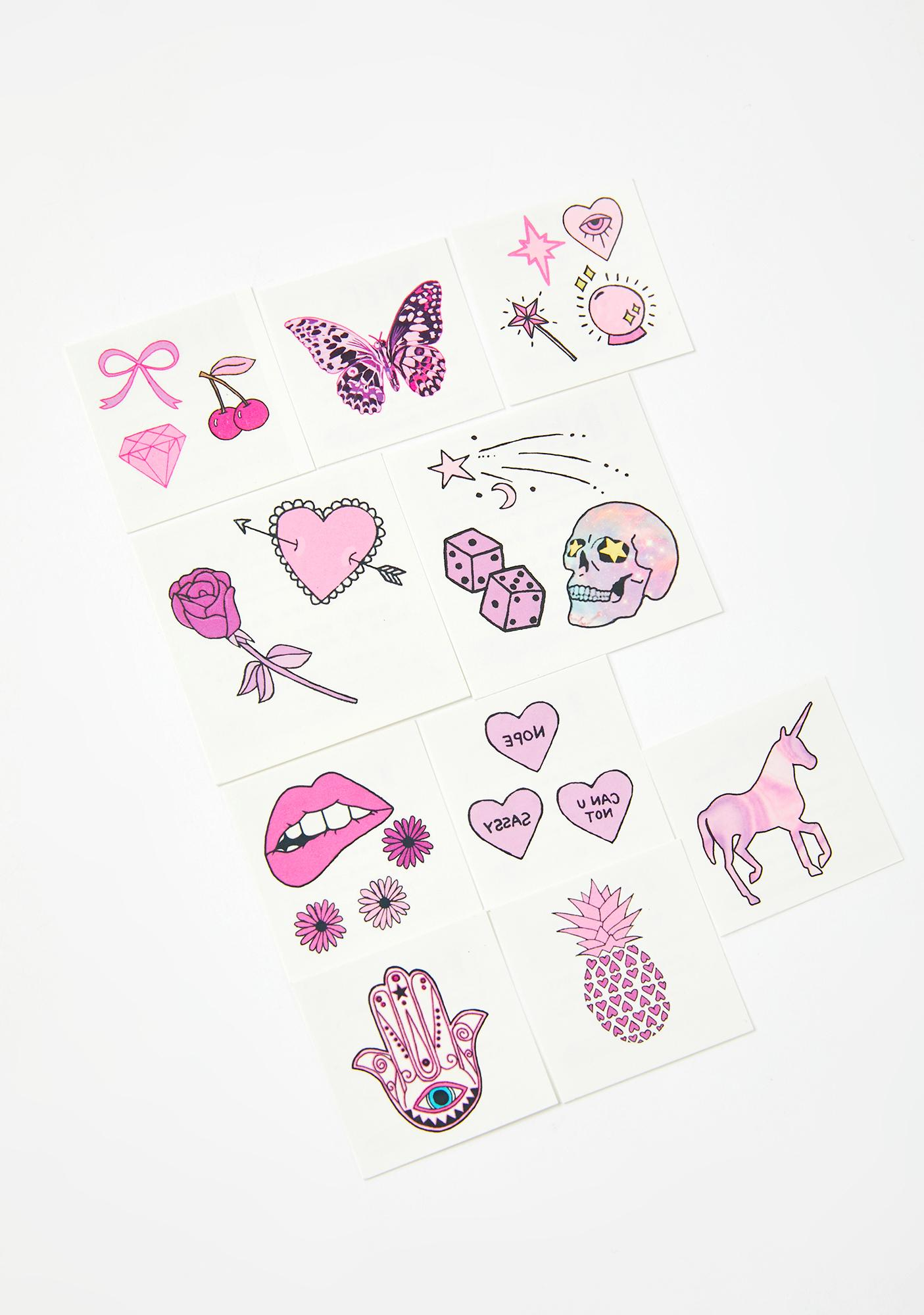 INKED by Dani Pretty In Pink Tattoo Pack