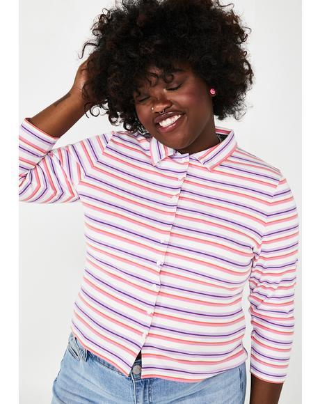 Ugh Get A Clue Striped Sweater