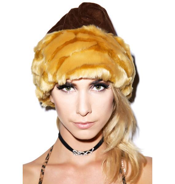 J Valentine Fur Trim Hat
