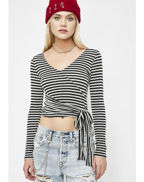 Dark Young Stoney Wrap Top