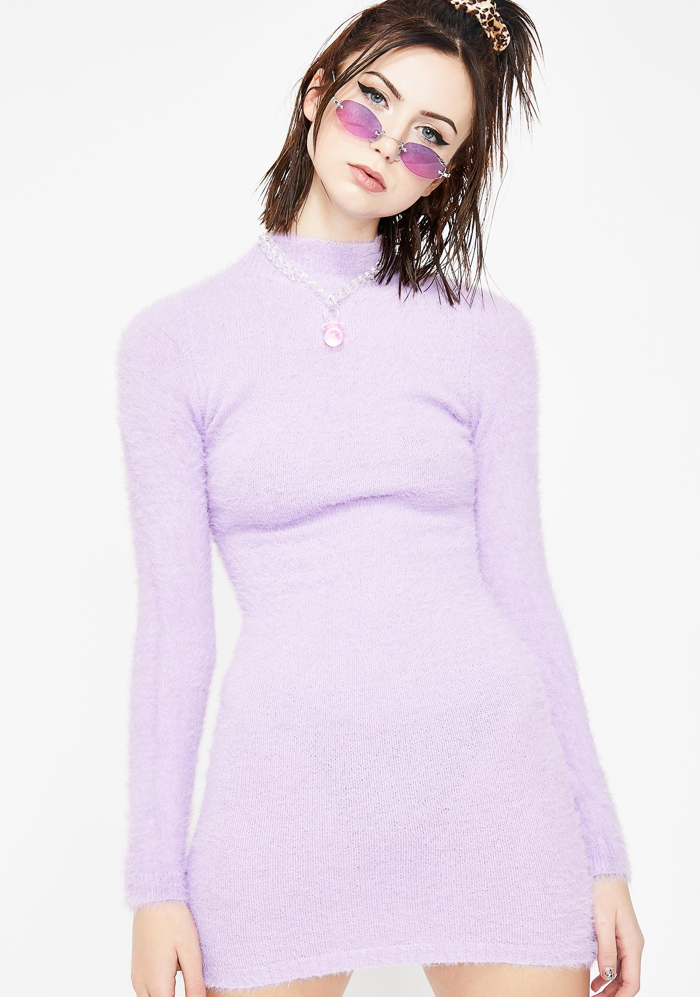 caf3aa3a94 Fuzzy Long Sleeve Mini Dress