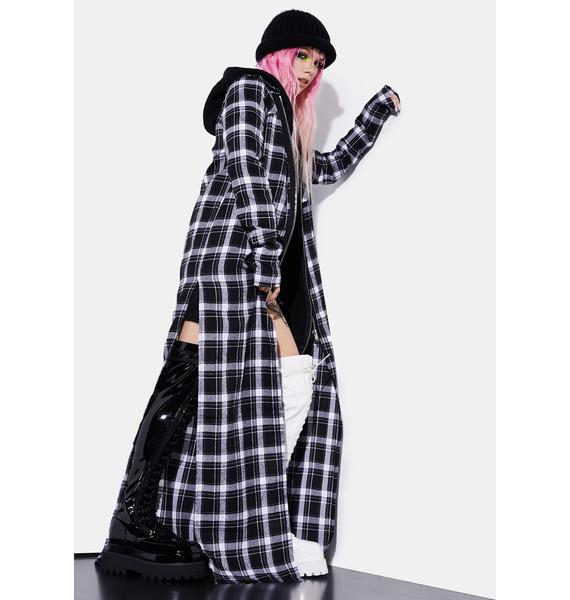 Current Mood Dark Band Of Misfits Flannel Duster