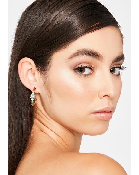Luxe Motions Rhinestone Earrings
