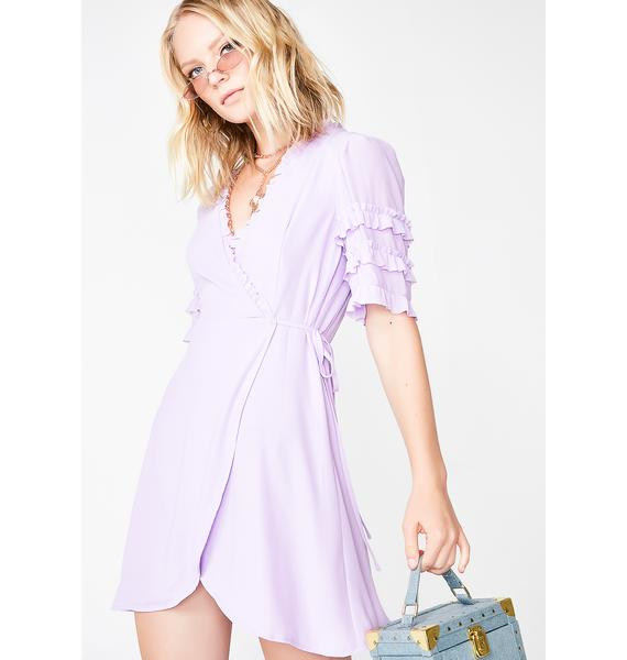 Smell The Roses Wrap Dress