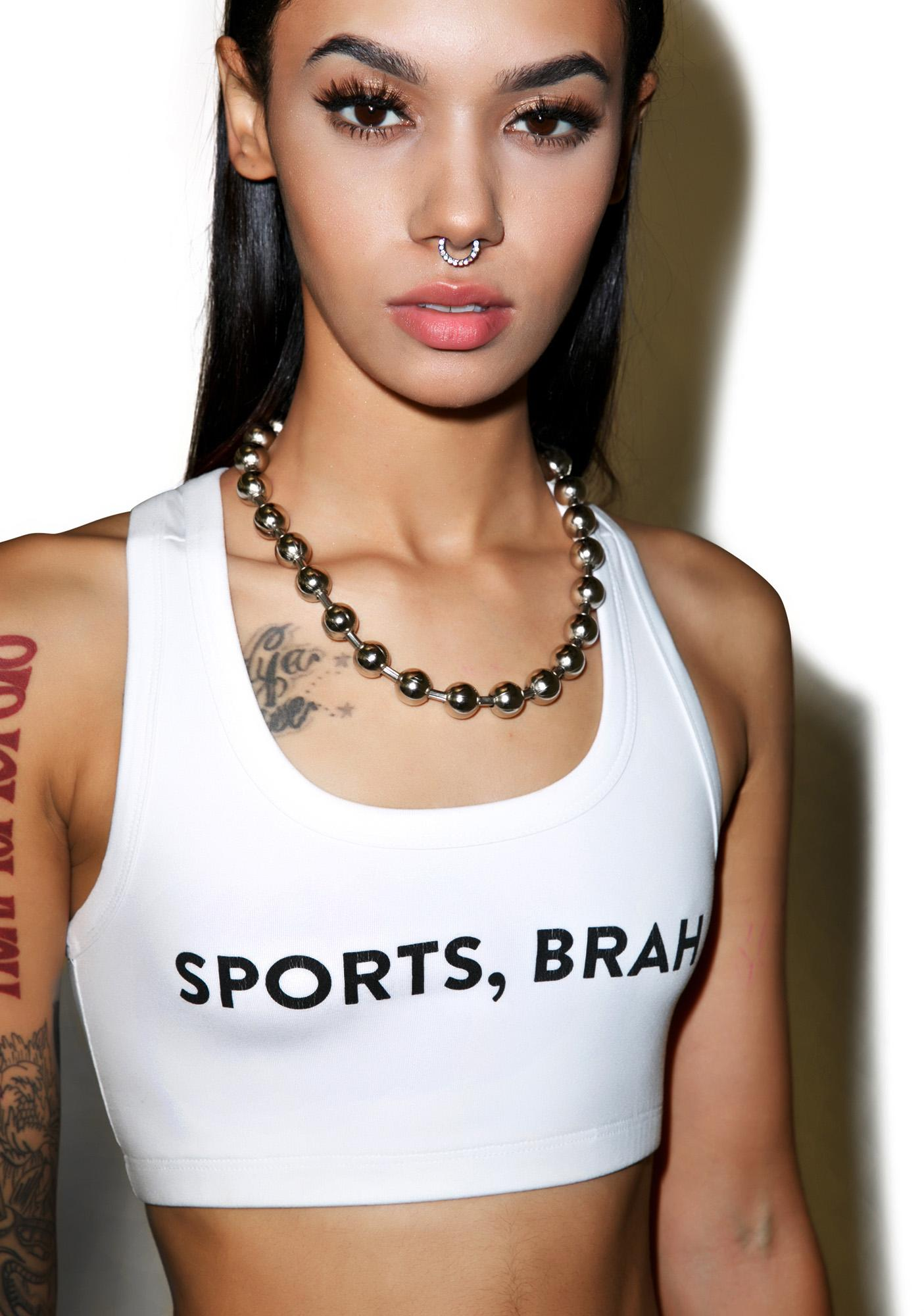 Barber Sports Brah Crop Top