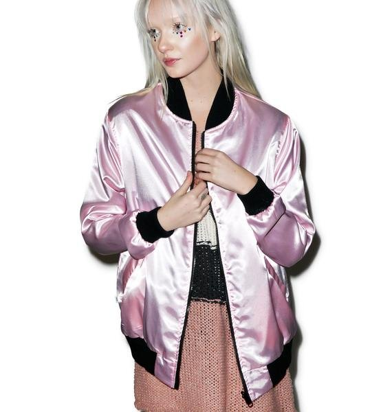 Local Heroes You Wish Reversible Satin Jacket