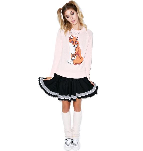 Wildfox Couture Red Fox 70s Mini Sweater