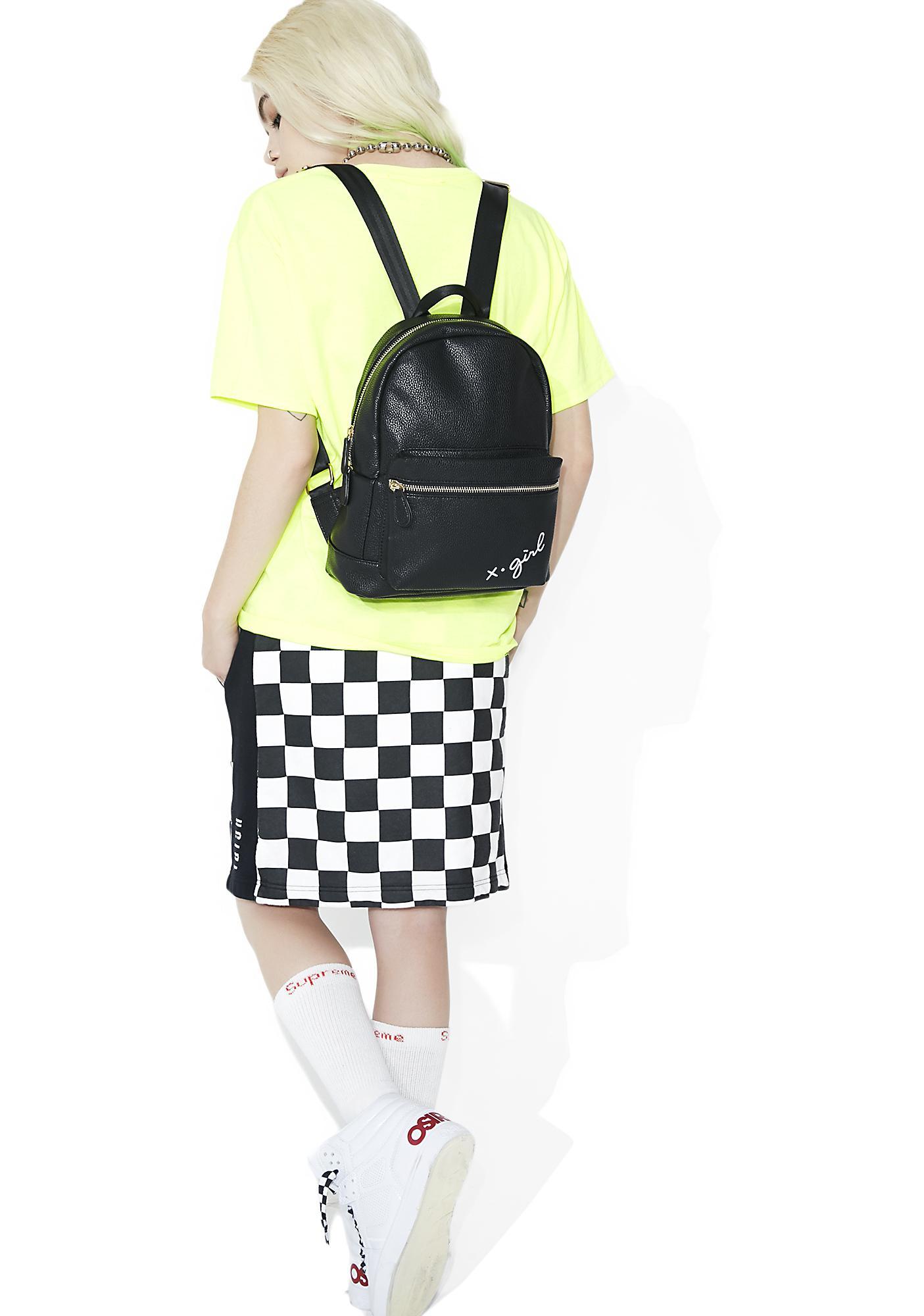 x-Girl Logo Embroidered Mini Backpack