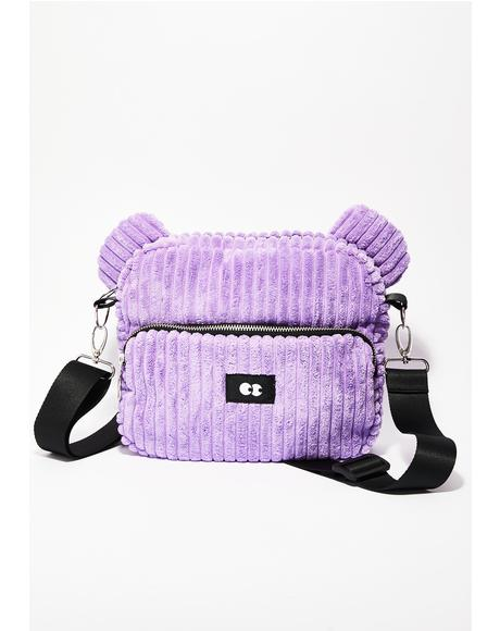 Zippy Purple Bear Bag