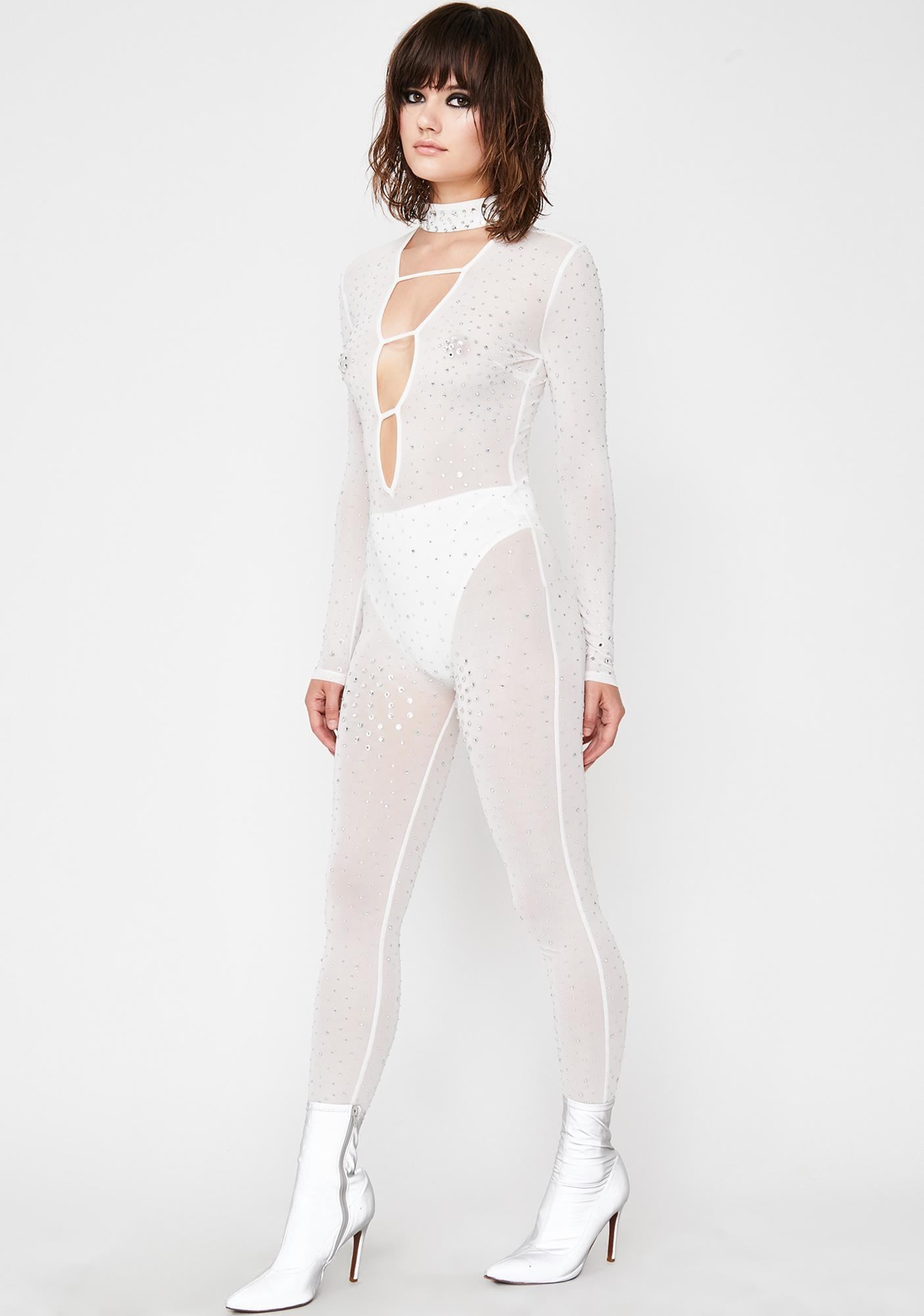 Pure Bling Haven Sheer Catsuit