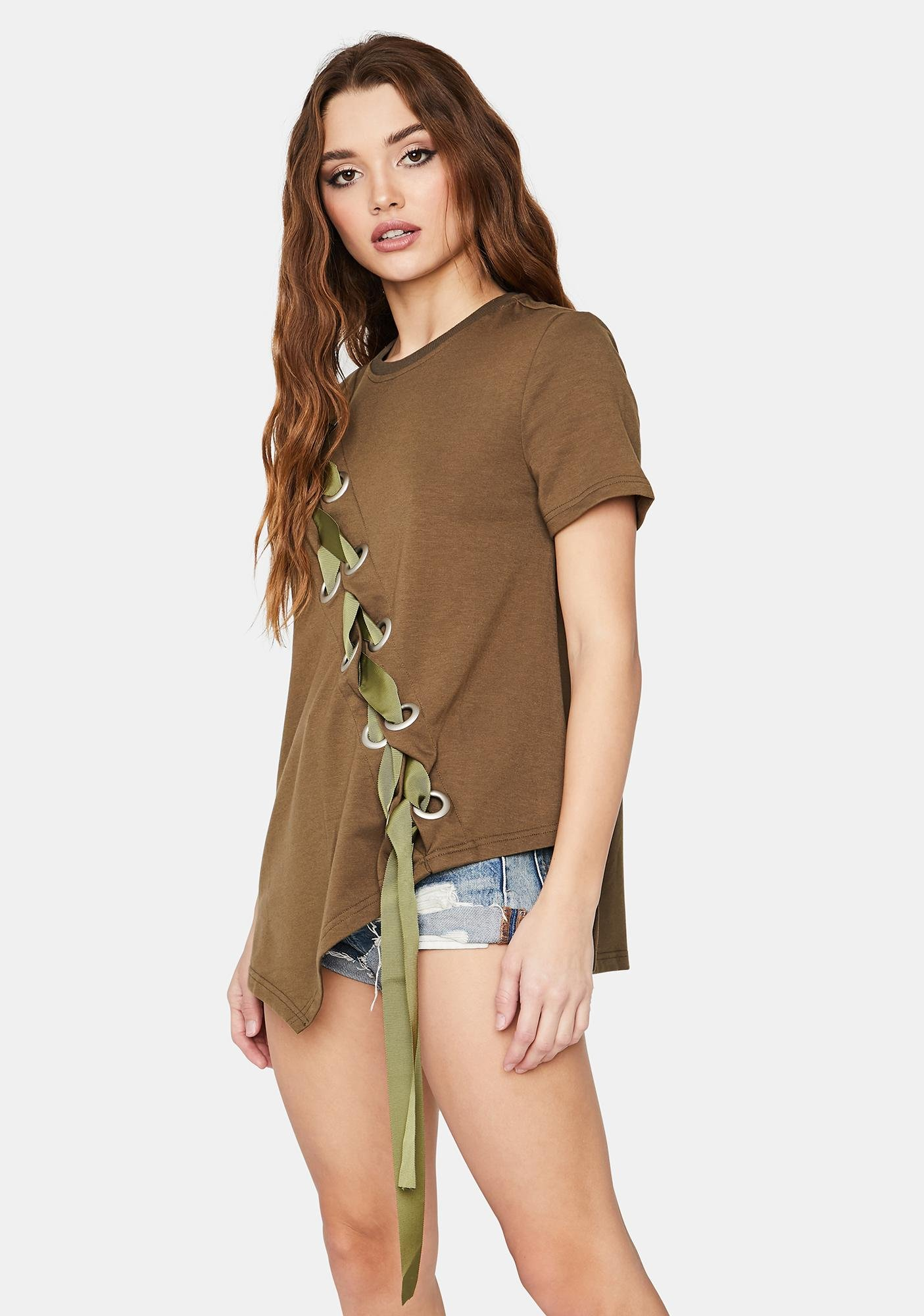 Tied To You Lace-Up Tee