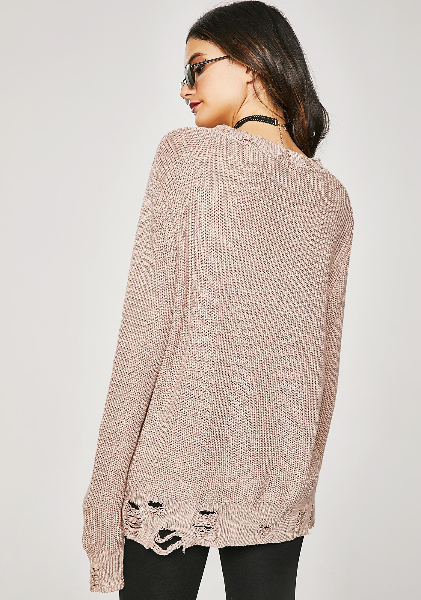 Now What Distressed Sweater