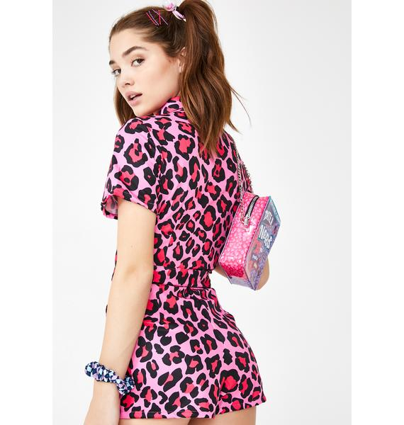 Glitter Disco Child Malibu Shorts Boiler Suit