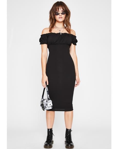 Night Wind It Up Midi Dress