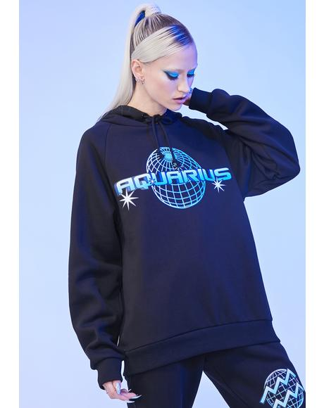Aquarius Worldwide Graphic Hoodie