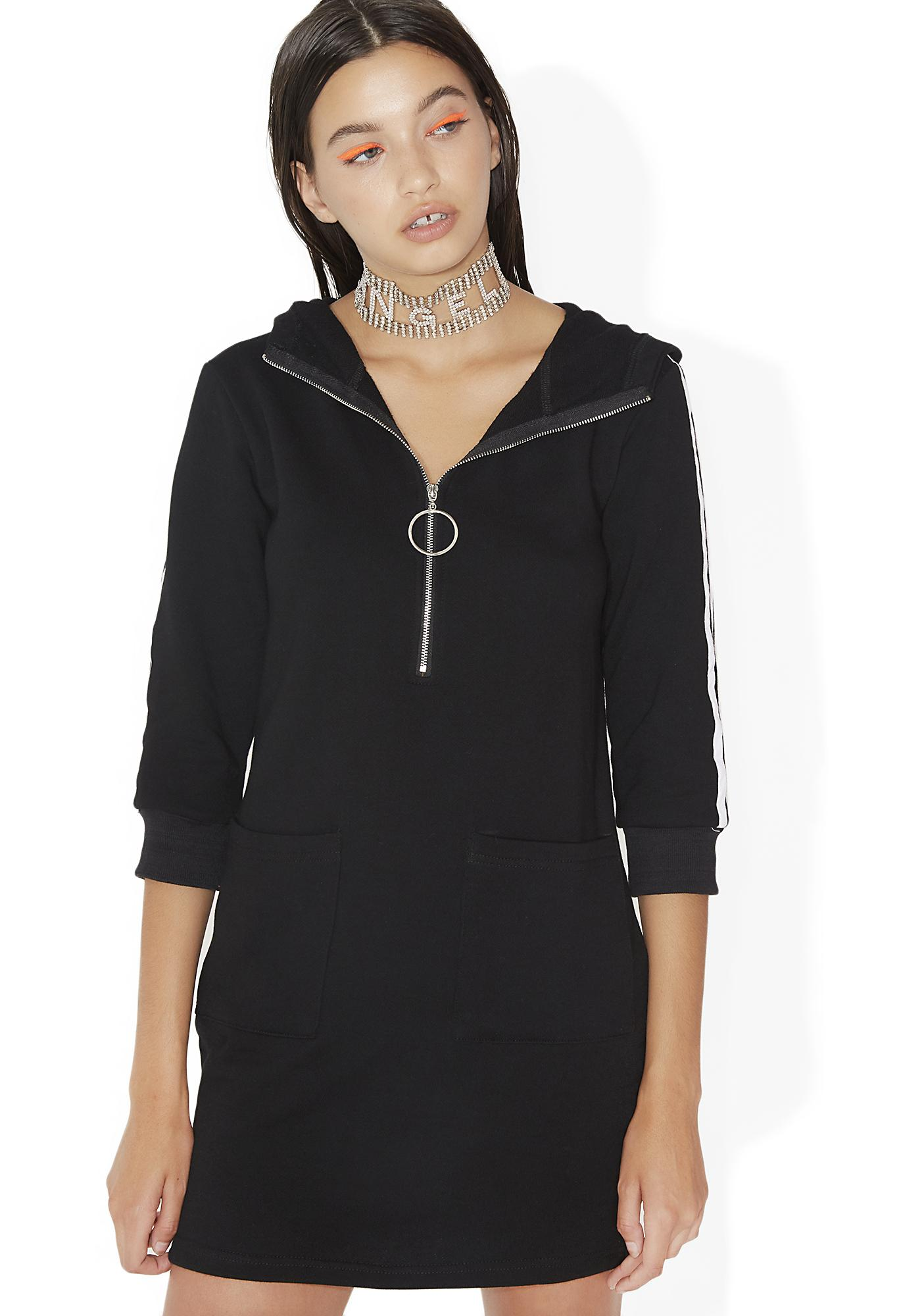 Sporty zip up hoodie shirt dress dolls kill for Zip up dress shirt