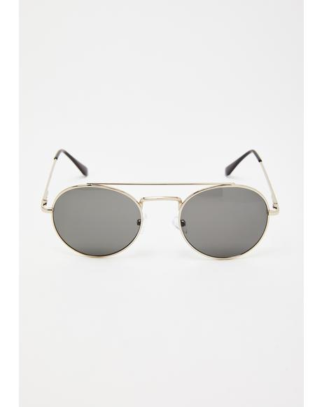 Pull Over Round Sunglasses