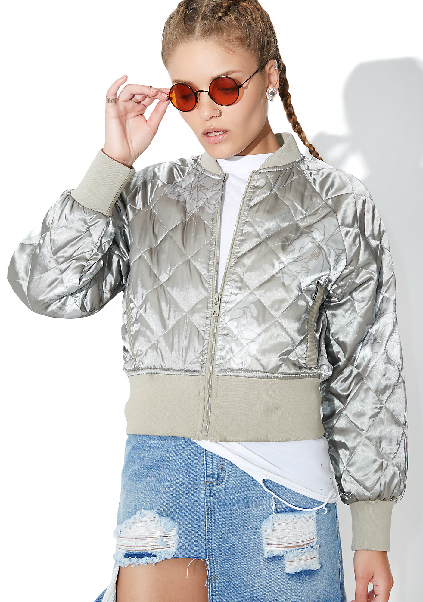 Members Only Momo Quilted Bomber