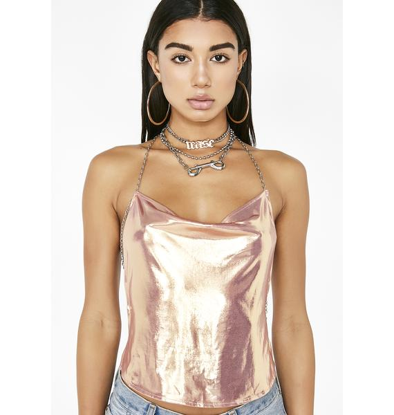 Poster Grl Champagne Showers Chain Top
