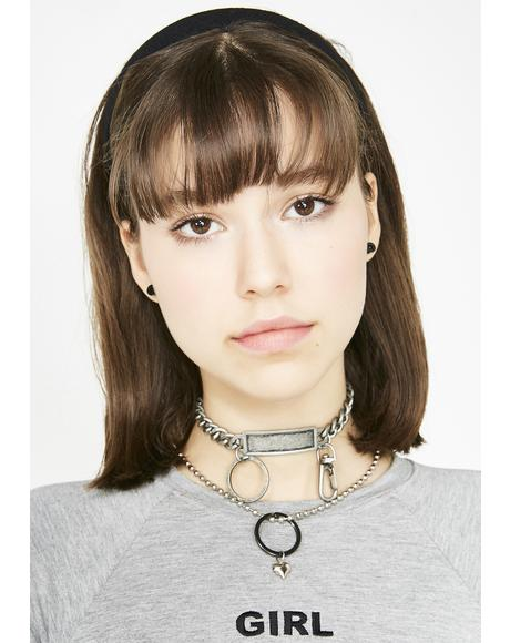 Hang Tough Nameplate Choker