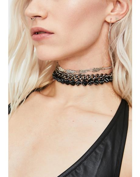 Luck On Fire Choker Set