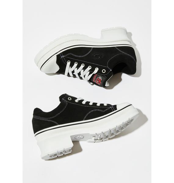 Skechers Black Softy Heartbeats Sneakers