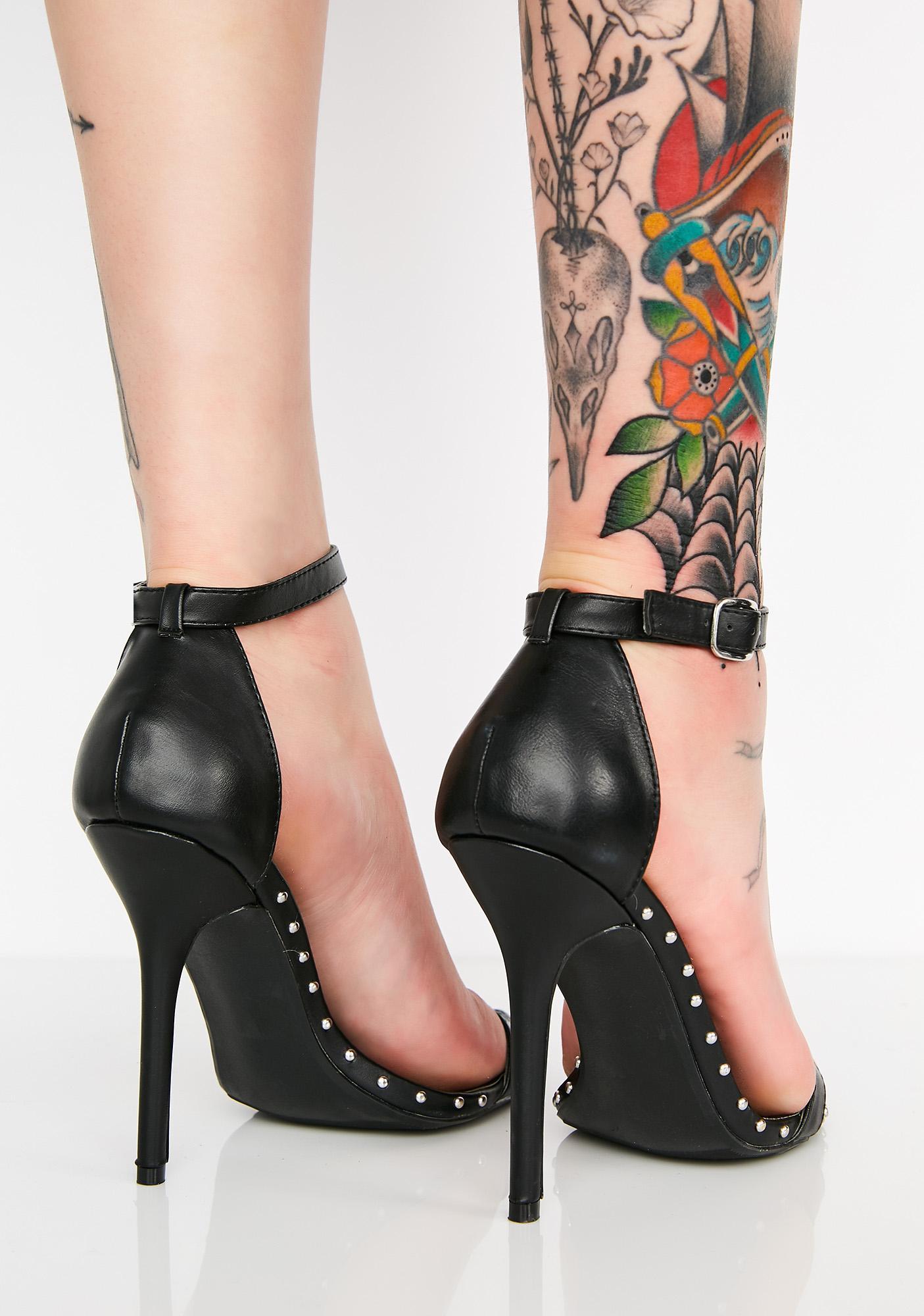 In Your Feelings Studded Heels