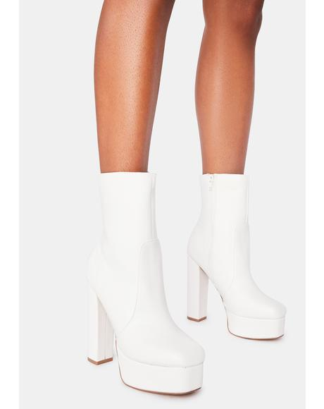 Ivory Own The Stage Platform Booties