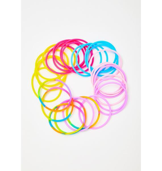Colorful Cutie Multi Hair Ties Set