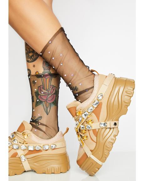 Naturally Stackin' Dough Platform Sneakers
