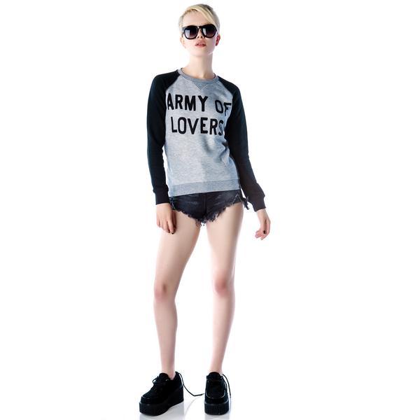 Zoe Karssen Army of Lovers Raglan Sweater