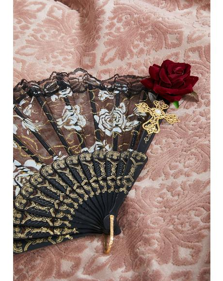 Lunar Romance Lace Fan