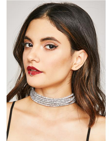 Flashin' You Glitter Choker