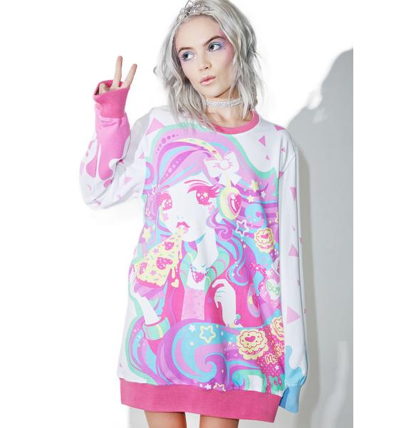 Japan L.A. X Miss Kika Pizza Sweatshirt