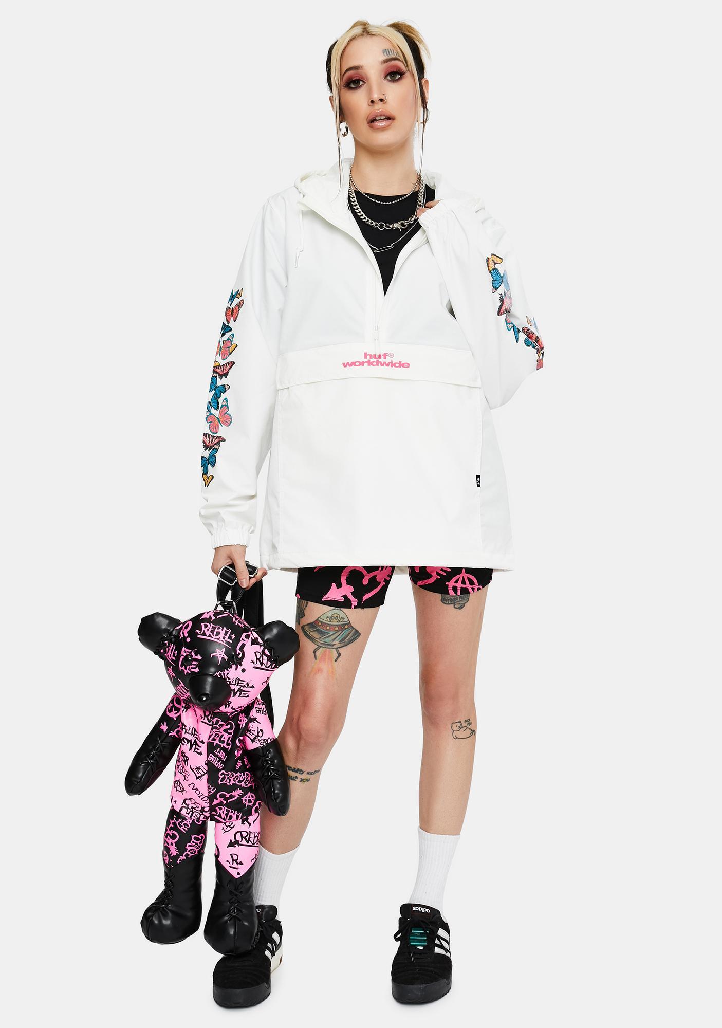 HUF White Monarch Anorak Jacket