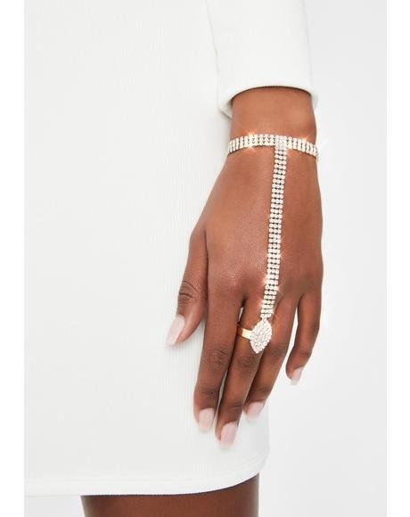 Deadly Bling Rhinestone Hand Chain