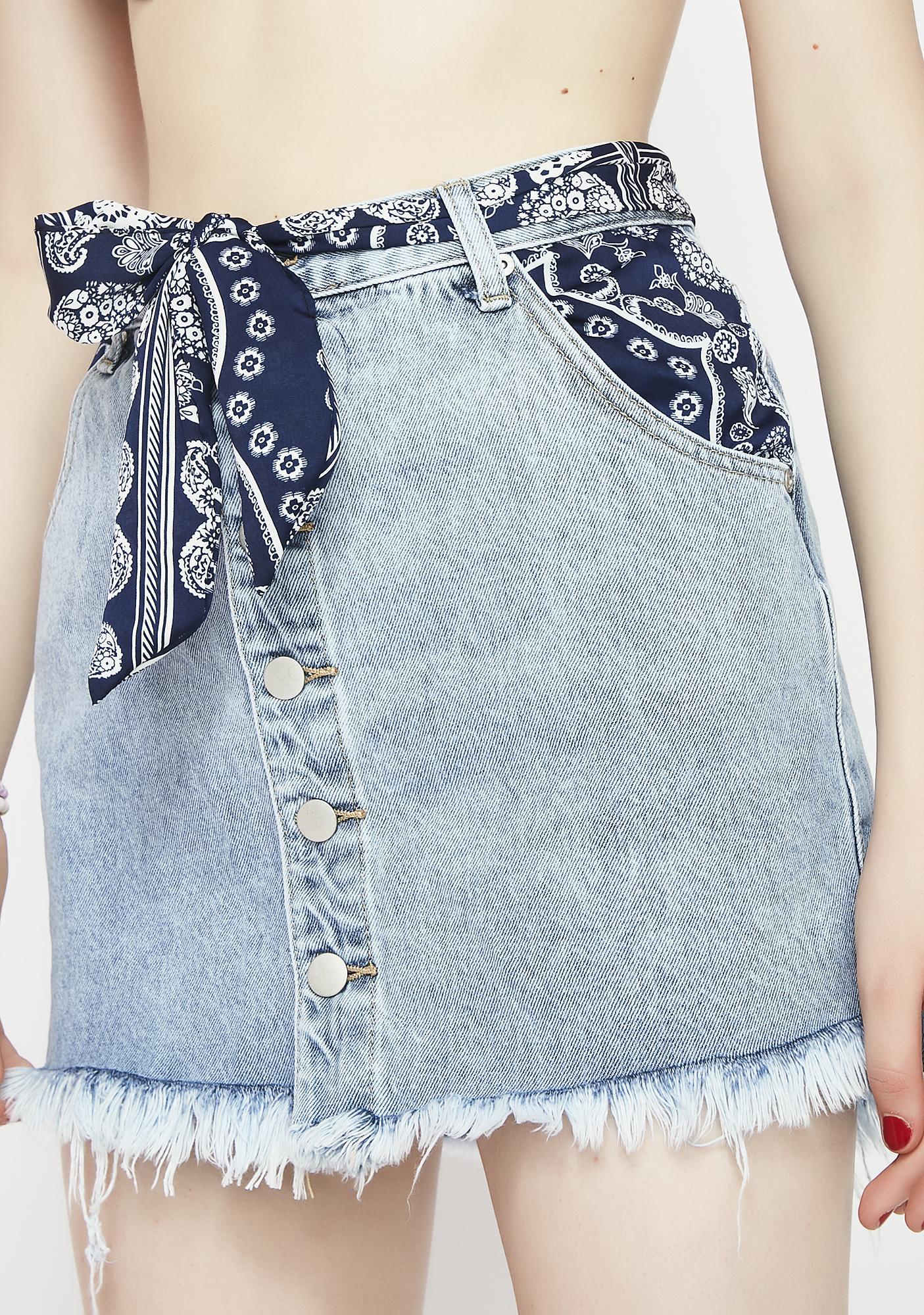 Glamorous Free Roamin' Denim Skirt