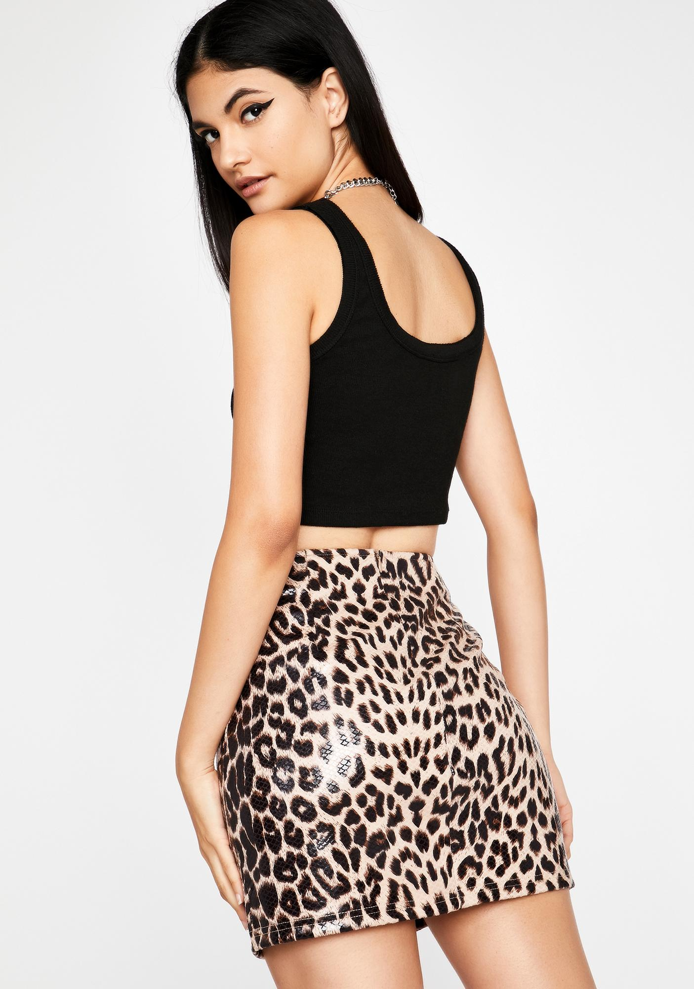 Catty Bish Faux Leather Skirt