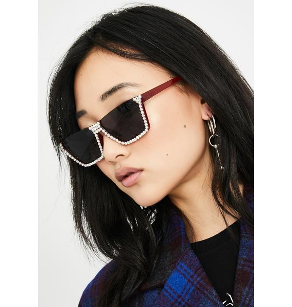 Eyes On The Prize Rhinestone Sunglasses