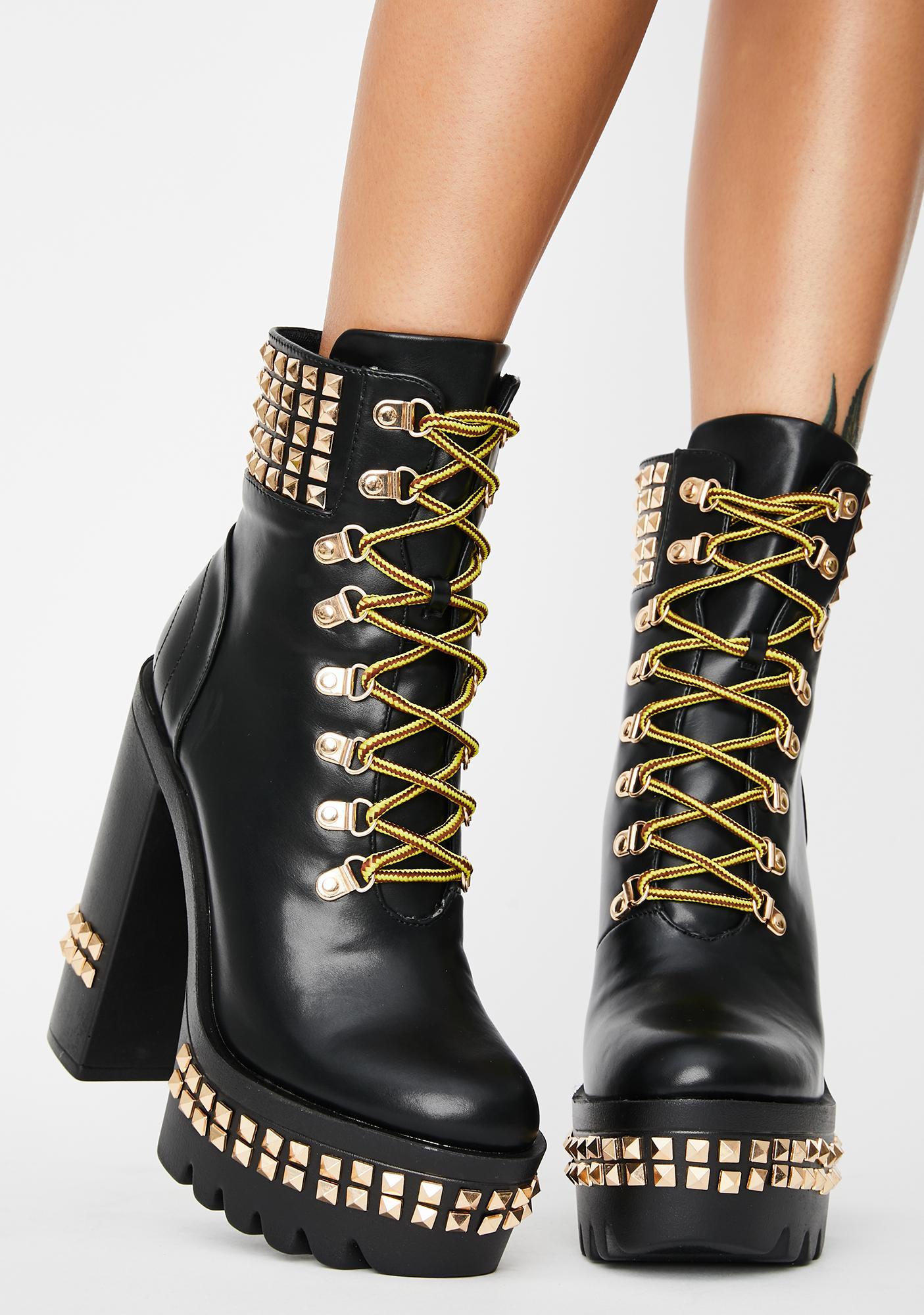 Bad Total Fiasco Platform Boots