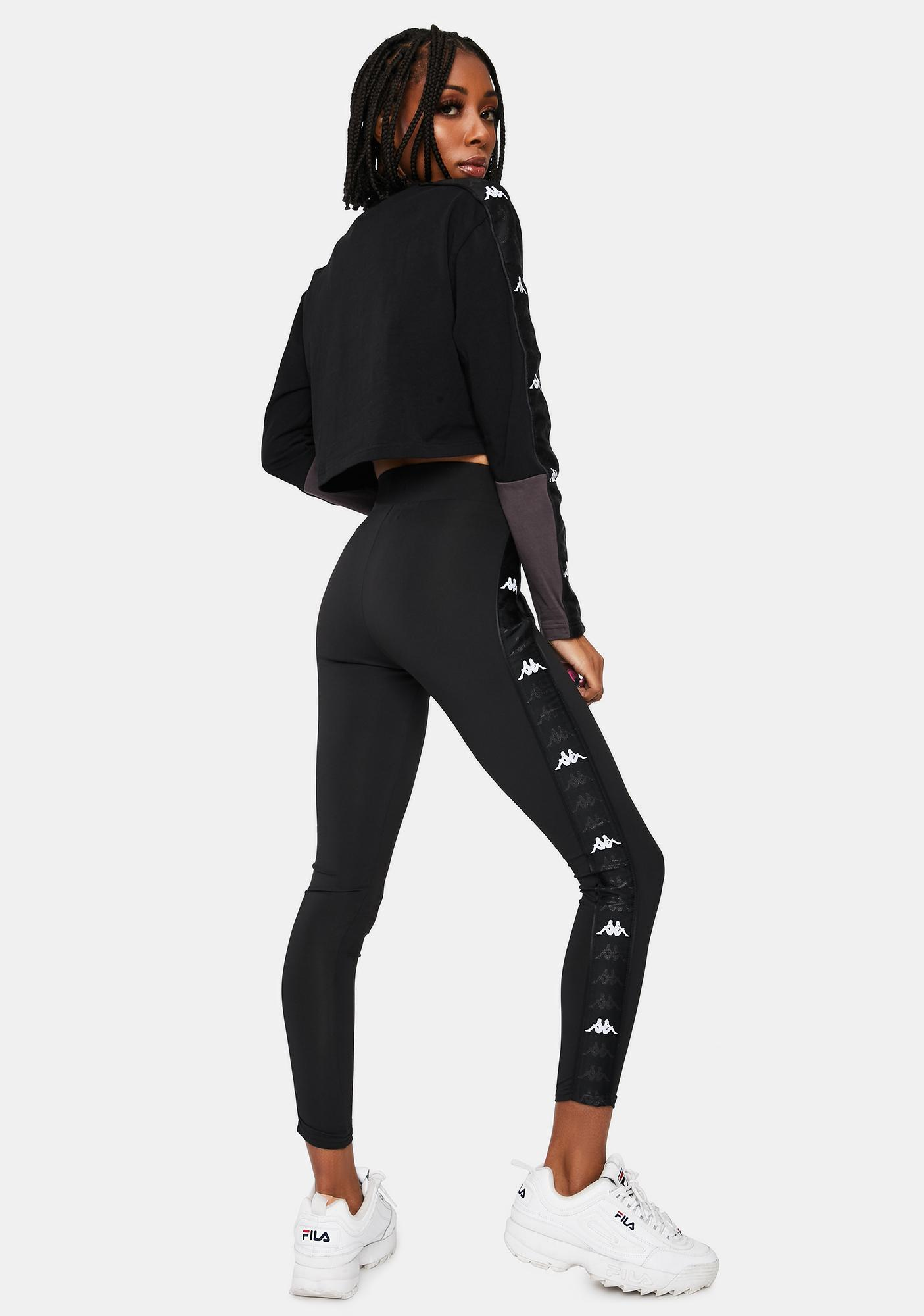 Kappa Black 222 Banda Barter Sport Leggings